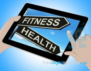 fitness and health on a tablet