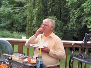 man at barbecue