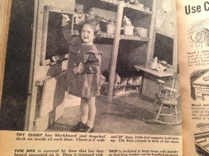 1950s child in playroom