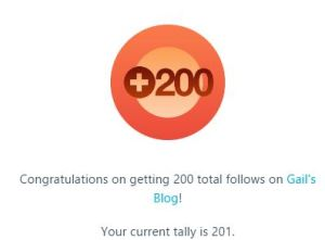 image showing 200 blog followers