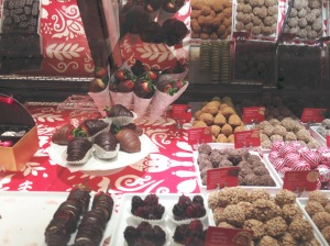 display of chocolates