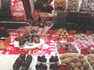 display of chocolates