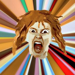 Image of woman shouting