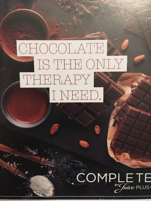 chocolate with quote
