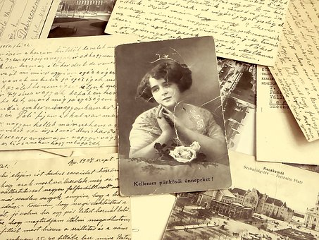 Old photograph and writing