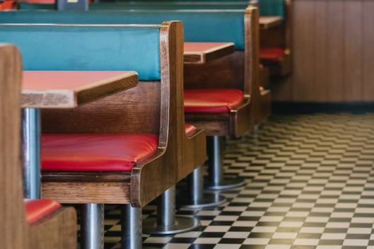booths in a diner
